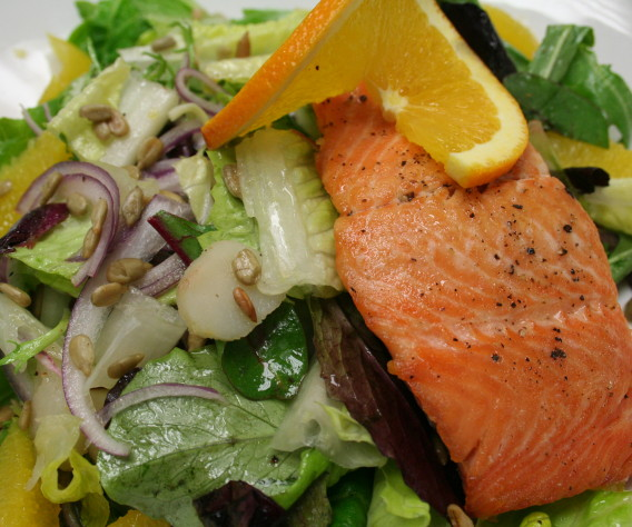 Grilled fish is great, but a fresh garden fish salad puts it over the top.
